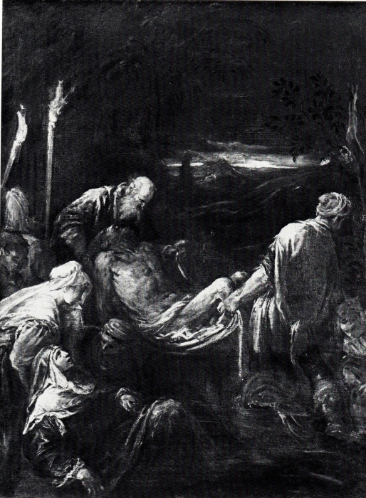 Якопо Бассано  «Положение во гроб» (Из собрания музея истории искусств, Вена, Австрия).  Фотография: Музей истории искусств, Вена.