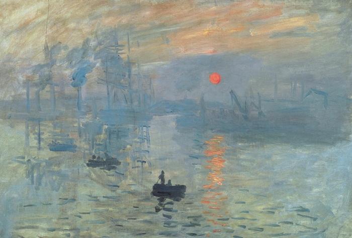 Клод Моне. Впечатление. Восходящее солнце. 1872 г. Музей Мармоттан-Моне, Париж. (Та самая картина, родоначальница импрессионизма.)