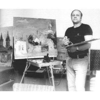Андрей Петрович Суровцев в мастерской
