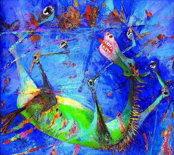 Бабаев Расим Ганифа оглы. (1927–2007)  «Голубая лошадь», 2003 год