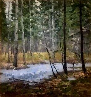 Иван Сергеевич Сошников ««Весна в лесу»  89х96  х.м.  1978 г.
