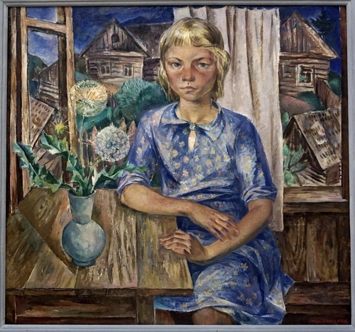Б.И. Шаманов «Девочка в голубом платье» 1966 г.