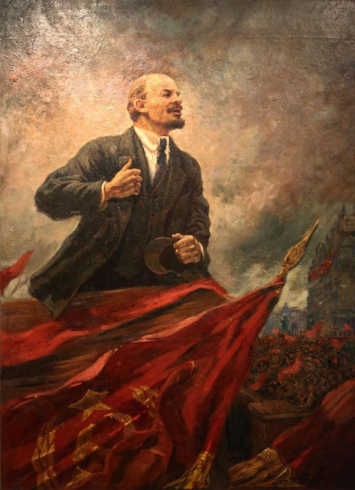 А.М. Герасимов «В.И. Ленин на трибуне» Холст, масло.