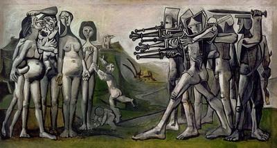 Пабло Пикассо «Резня в Корее» 1951 год