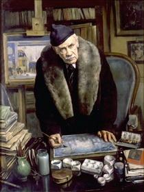 Сергей Иванов «Портрет А.Н. Бенуа 1944 г.»  ГРМ