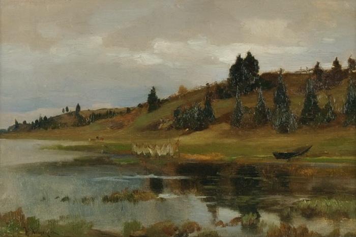Н.Н. Хохряков. У реки. 1890-е годы.