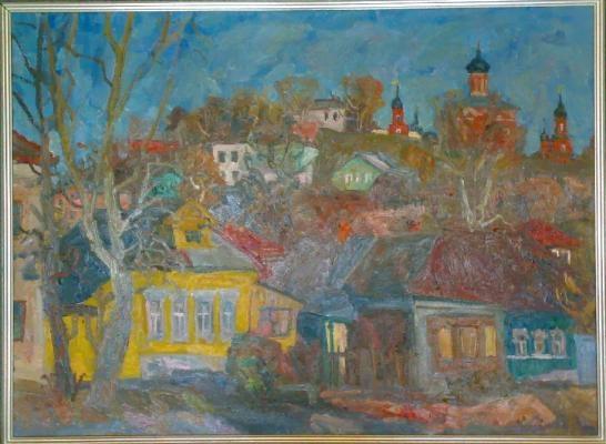 Суровцев А. П. «Волоколамск. Улица.» 1970-1980 гг. Холст, масло. 73 x 100 см