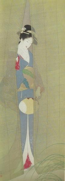 Сиоэн Уэмура  «Вечер» свиток 155х58  1935 г.