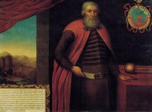 Парсуна воеводы Ивана Евстафьевича Власова, написанная в 1695 году изографом Оружейной палаты Григорием Одольским. Холст, масло. 113х151 см
