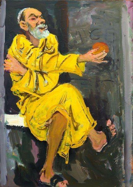 Бабаев Расим Ганифа оглы. (1927–2007)  «Автопортрет» 2005 г. Холст, акрил. Собрание семьи художника
