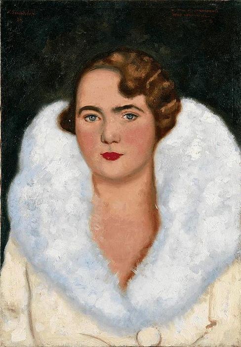 Н. Синезубов «Портрет дамы» 1934 г. Холст, масло. 46 х 32,5 см