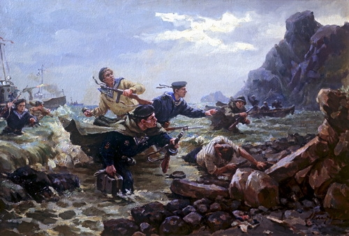 А.И. Плотнов  «Десант на Курилы»