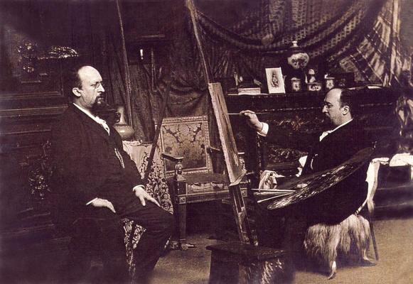 Сведомские Александр и Павел в римской мастерской, 1880 г.