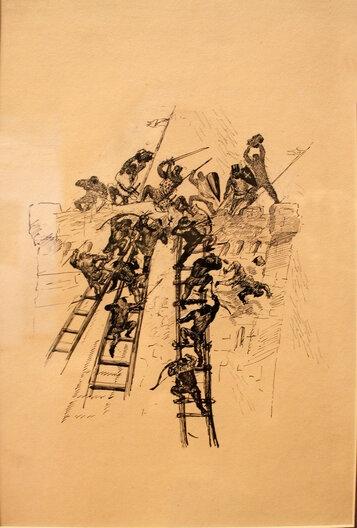 Иллюстрация к книге В. Скотта «Айвенго»