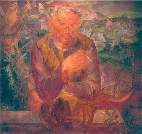 Б.И. Шаманов «Портрет отца»  1969 г.