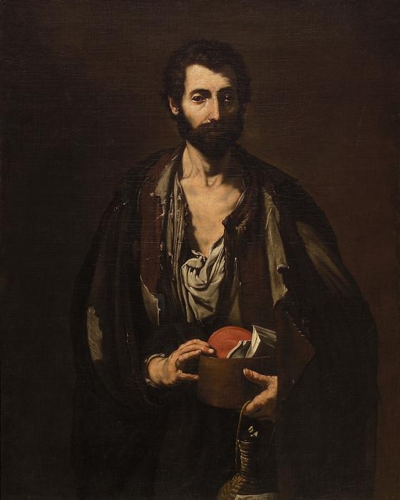 Лука Джордано «Нищий философ»  Холст, масло. 119X98 см. (Из собрания музея истории искусств, Вена, Австрия)