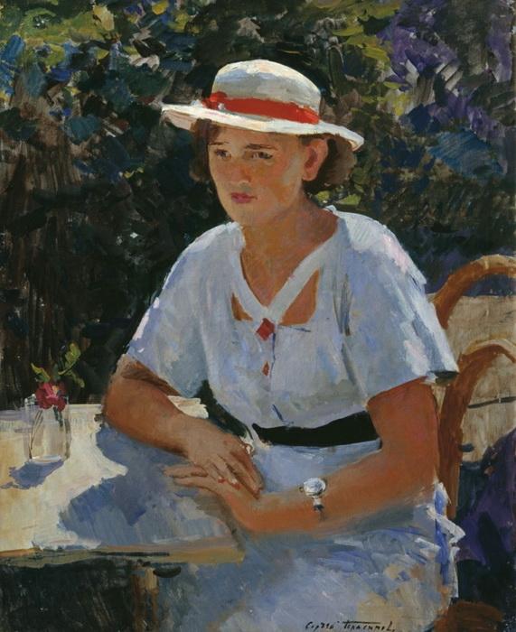 С.В. Герасимов. Шура. Портрет племянницы. Холст, масло. 90х71 см. 1949 г.