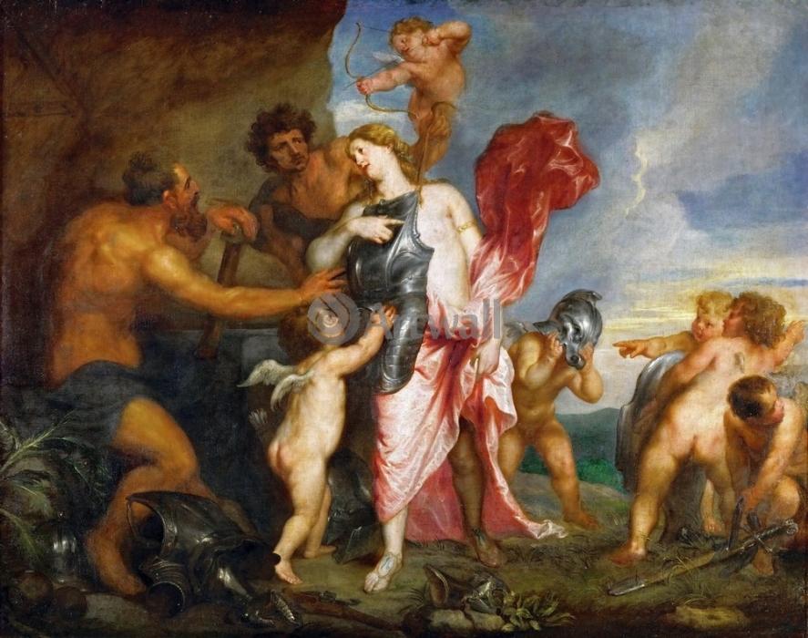 Антон ван Дейк «Венера в кузнице Вулкана»  Холст, масло. 116,5X156  см. (Из собрания музея истории искусств, Вена, Австрия).