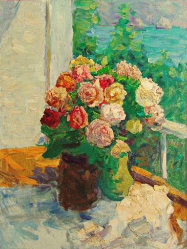 В.Г. Гремитских «Розы в Гурзуфе» холст, масло; 77х58; 1983 год