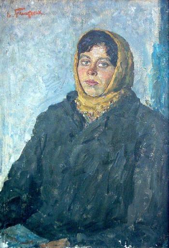 Колхозница Надя Кильченко.  1972 г. холст, масло. 93х64 см