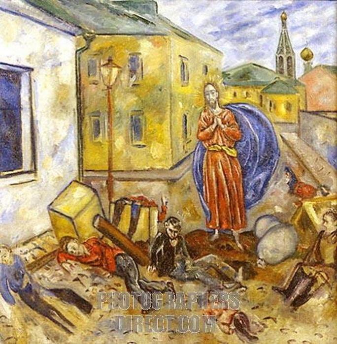 Н. Синезубов «Баррикада» 1918-1919 гг. Нижегородский художественный музей