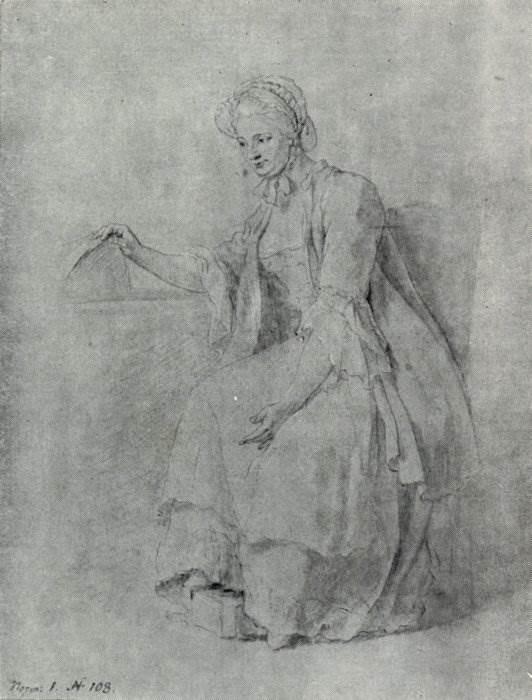 А.П. Лосенко «Женщина у колыбели» 1764-1765 гг.