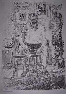 Е.С. Тейс «Автопортрет» литография на цинке
