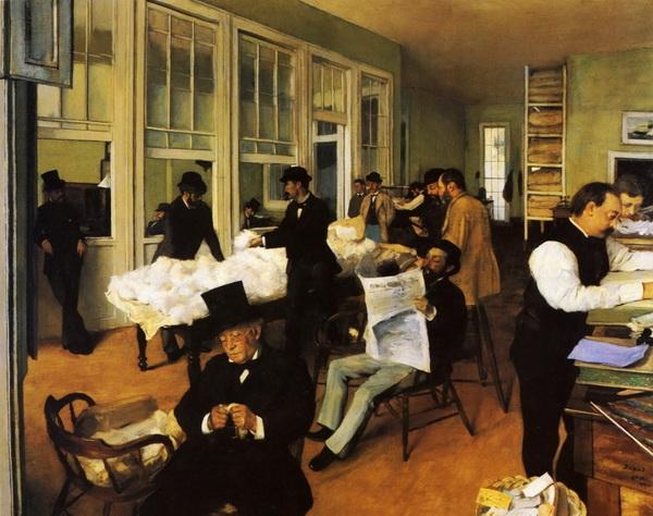 Эдгар Дега ««Хлопковая контора в Новом Орлеане»  1873 г.