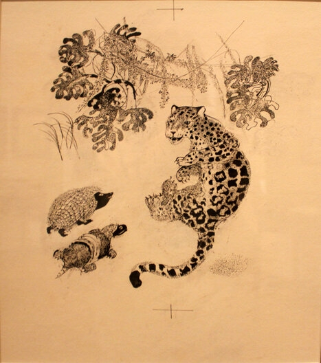 Иллюстрация к сказке Р. Киплинга «Откуда взялись броненосцы»