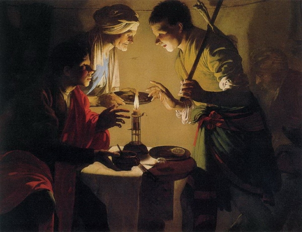 Хендрик Тербрюгген  «Исав продаёт право первородства за чечевичную похлёбку»  1627 г.