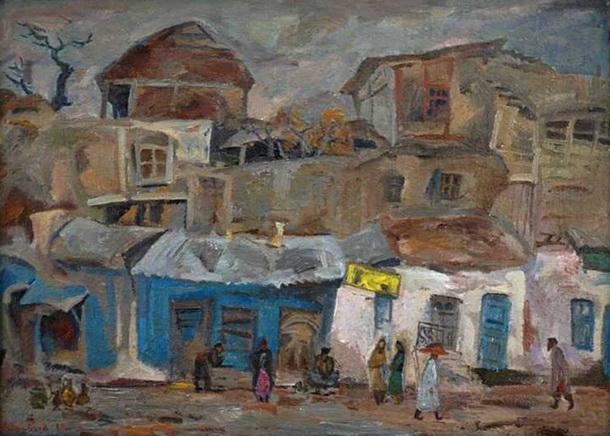 А.П. Суровцев «В старом Ташкенте»  Холст, масло. 80х110см 1980 г.