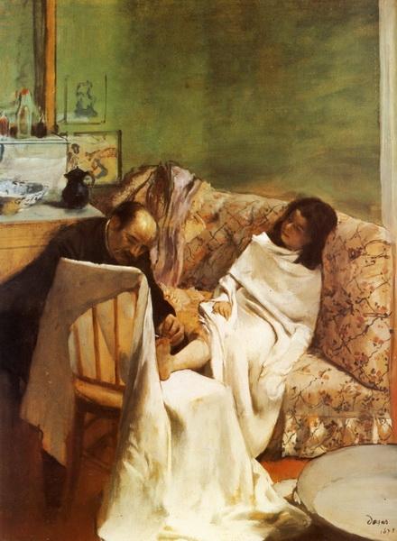 Эдгар Дега «Педикюр»  1873 г. 61х46см Musée d'Orsay, Paris, France