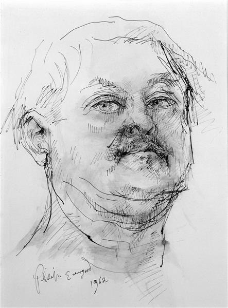 Филип Эвергуд. Автопортрет.