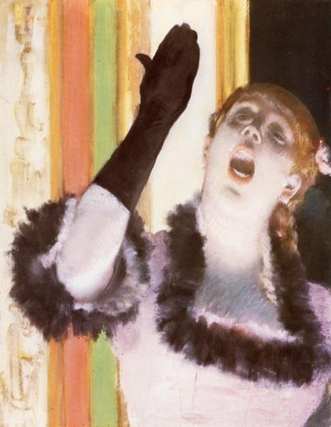 Эдгар Дега «Певица с перчаткой»  1878 г.  пастель