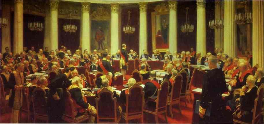 И.Е. Репин   'И.Е. Репин   Заседания Государственного Совета'