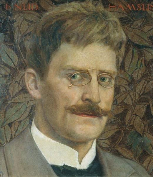 Н.М. ЧЕРНЫШЁВ  «Портрет Кнута Гамсуна»  1913 г.