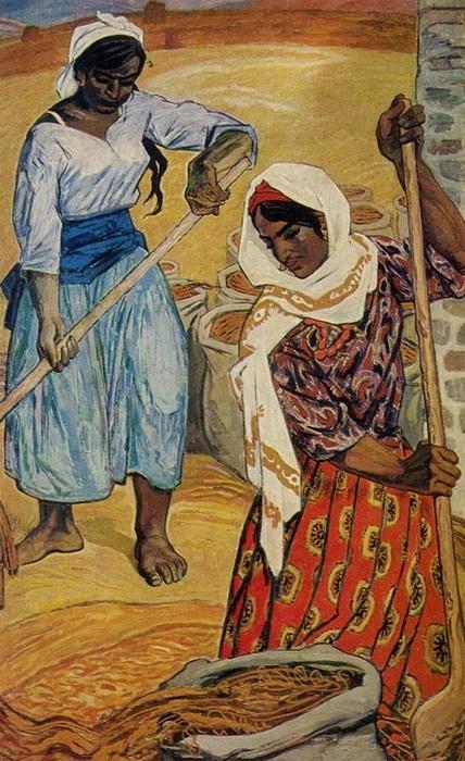 Микаил Абдуллаев. «Девушки-рисоводы»  1950-е годы