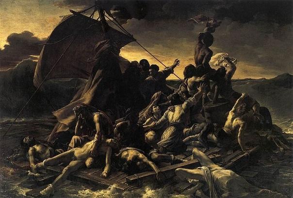 Теодор Жерико. Плот «Медузы». 1819 г. Холст, масло. 491 × 716 см Лувр, Париж