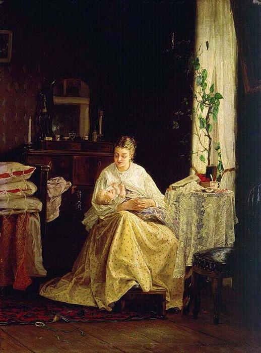 «Материнство» 1871 г. Холст, масло. Таганрогская картинная галерея