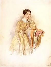 Александра Маковская, 1850-е годы. Предположительно портрет  написан Александром Брюлловым