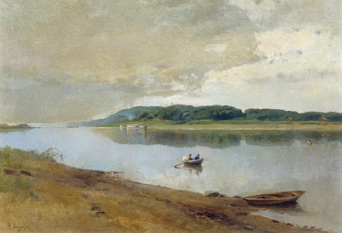 Н.Н. Хохряков. На реке Вятке. 1880-е  годы.