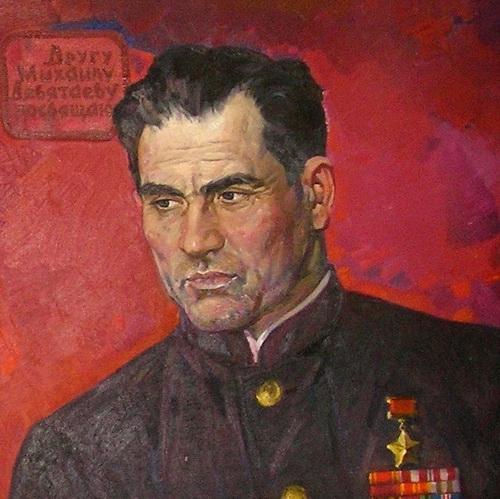 Харис Якупов «Портрет Девятаева», 1964-1971 годы, холст, масло, Государственный музей изобразительных искусств Республики Татарстан.