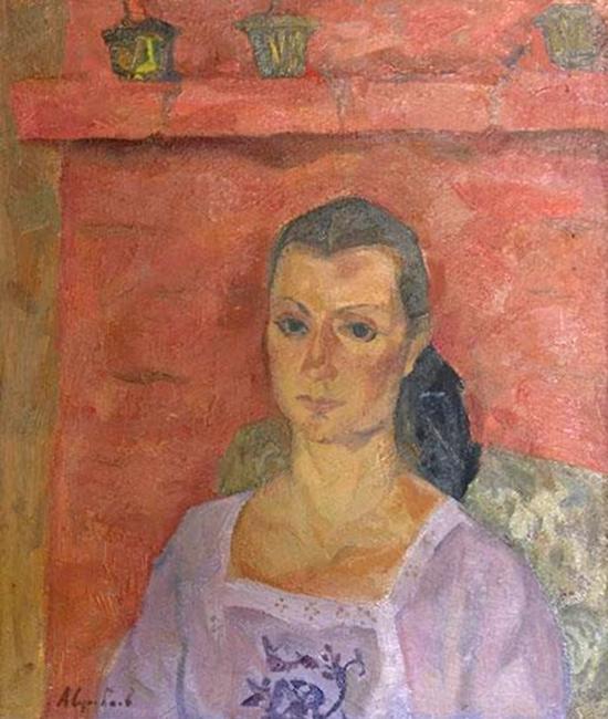 А.П. Суровцев «Женский портрет» Холст, масло. 65х45. 1986 г.